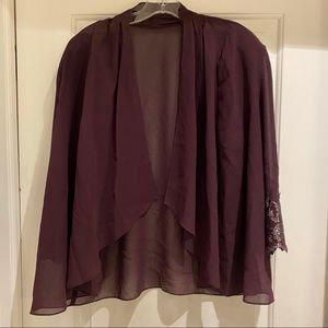 Jovani Top Burgundy
